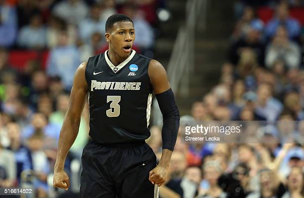 Kris Dunn of the Providence Friars reacts in the first half against the North Carolina Tar Heels during the second round of the 2016 NCAA Men's...