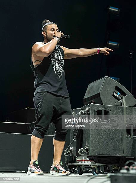 Kris Fade performs during Dubai Music Week 2015 at Dubai World Trade Centre on September 23 2015 in Dubai United Arab Emirates