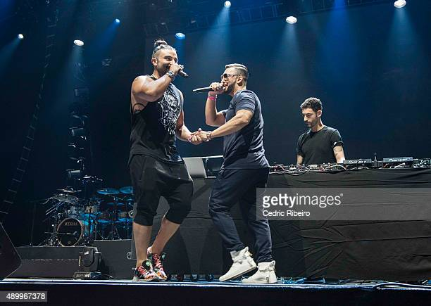 Kris Fade Two Tone performs during Dubai Music Week 2015 at Dubai World Trade Centre on September 23 2015 in Dubai United Arab Emirates