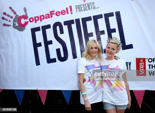 Kris Hallenga and Fearne Cotton attend a photocall to launch Festifeel a music festival hosted by Breast Cancer Care charity Coppafeel at London...
