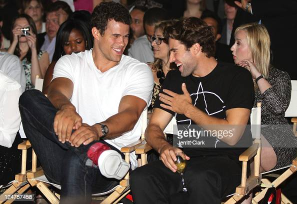 Kris Humphries and Brody Jenner attends the Abbey Dawn by Avril Lavigne Spring 2012 fashion show during Style360 at the Metropolitan Pavilion on...