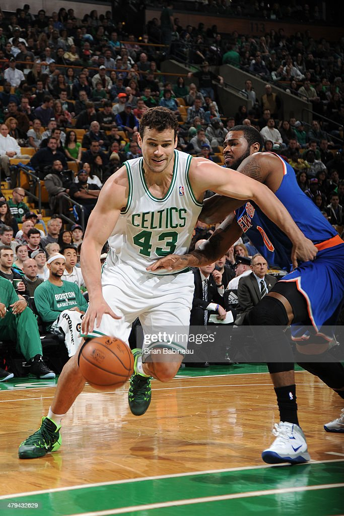 <a gi-track='captionPersonalityLinkClicked' href=/galleries/search?phrase=Kris+Humphries&family=editorial&specificpeople=209199 ng-click='$event.stopPropagation()'>Kris Humphries</a> #43 of the Boston Celtics handles the ball against the New York Knicks on March 12, 2014 at the TD Garden in Boston, Massachusetts.