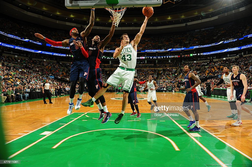 <a gi-track='captionPersonalityLinkClicked' href=/galleries/search?phrase=Kris+Humphries&family=editorial&specificpeople=209199 ng-click='$event.stopPropagation()'>Kris Humphries</a> #43 of the Boston Celtics shoots the ball against the Detroit Pistons on March 9, 2014 at the TD Garden in Boston, Massachusetts.