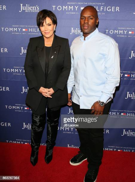 Kris Jenner and Corey Gamble attend Julien's Auctions and Tommy Hilfiger VIP reception on October 19 2017 in Los Angeles California