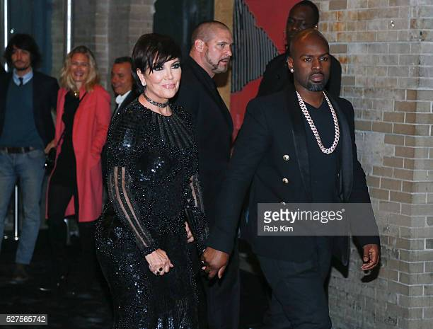 Kris Jenner and Corey Gamble attend the afterparty for 'Manus x Machina Fashion In An Age Of Technology' Costume Institute Gala at The Gilded Lily on...