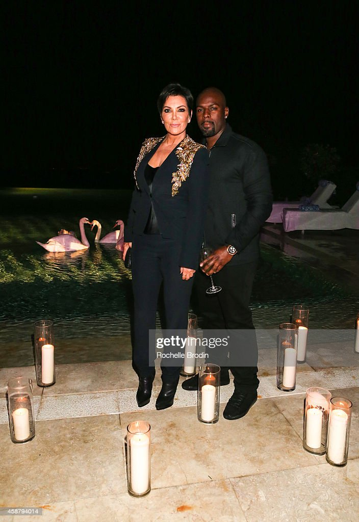 Kris Jenner and Corey Gamble attend the French Montana Mohamed Hadid Birthday Party Powered By CIROC Pineapple and Produced By...