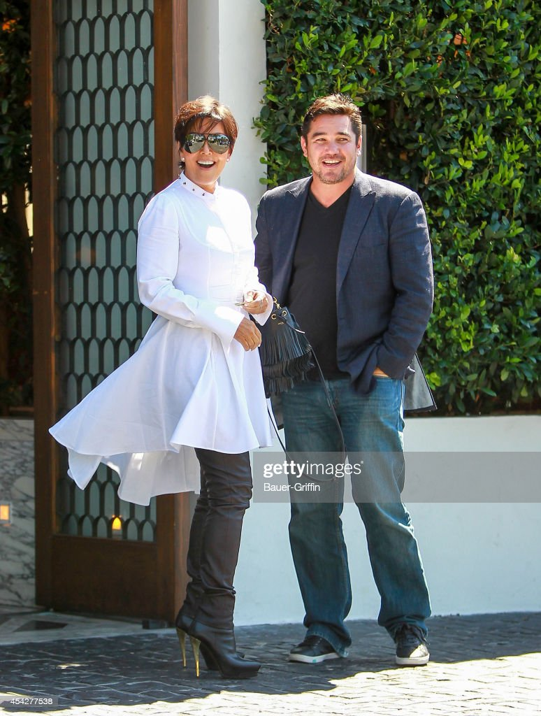 Kris Jenner and Dean Cain are seen on August 27, 2014 in Los Angeles, California.