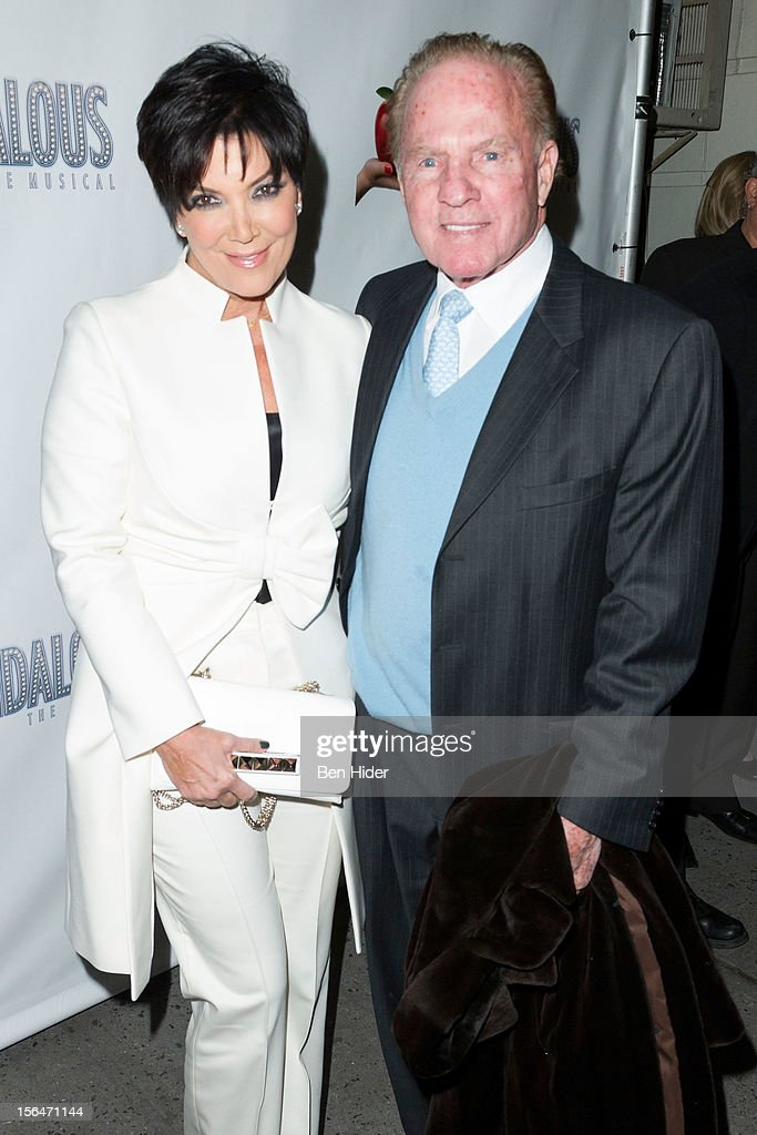 <a gi-track='captionPersonalityLinkClicked' href=/galleries/search?phrase=Kris+Jenner&family=editorial&specificpeople=762610 ng-click='$event.stopPropagation()'>Kris Jenner</a> and <a gi-track='captionPersonalityLinkClicked' href=/galleries/search?phrase=Frank+Gifford&family=editorial&specificpeople=214258 ng-click='$event.stopPropagation()'>Frank Gifford</a> attends the 'Scandalous' Broadway Opening Night at Neil Simon Theatre on November 15, 2012 in New York City.