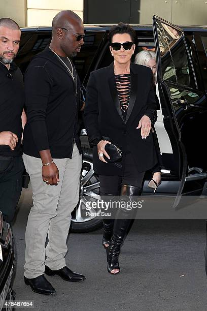 Kris Jenner and her Boyfriend Corey Gamble are seen going out for dinner on June 25 2015 in Paris France