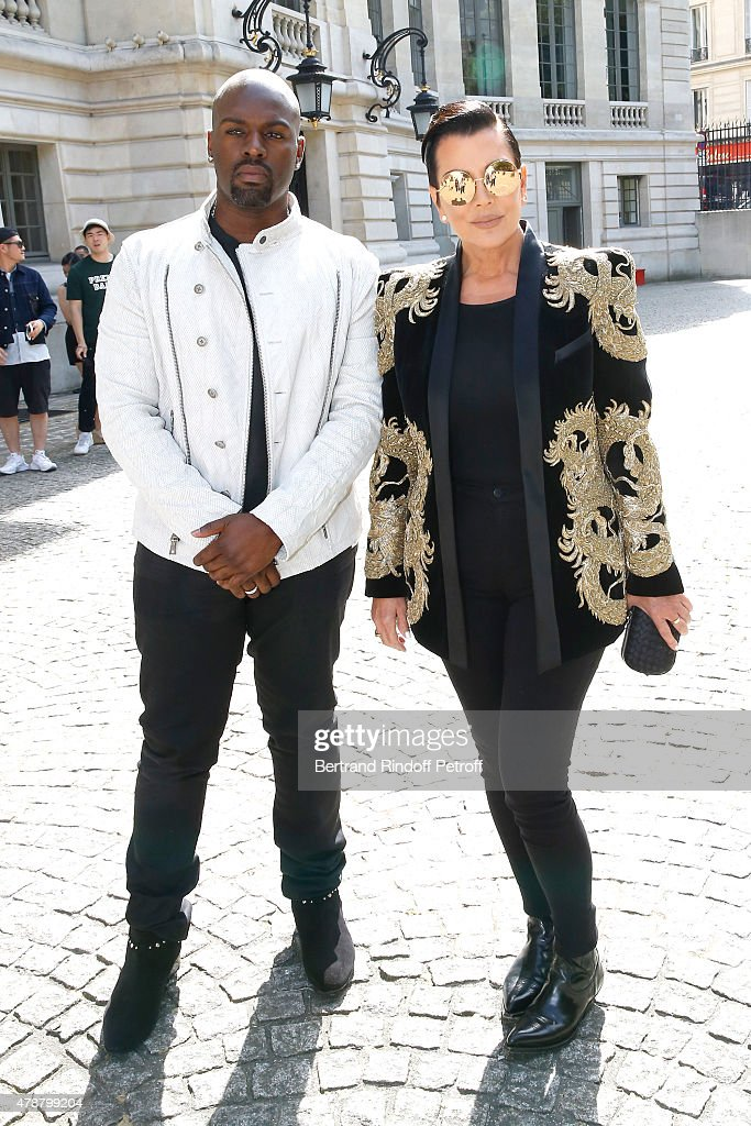 Balmain : Outside Arrivals  - Paris Fashion Week - Menswear Spring/Summer 2016