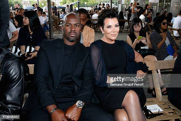 Kris Jenner and her companion Corey Gamble attend the Givenchy Menswear Spring/Summer 2016 show as part of Paris Fashion Week on June 26 2015 in...