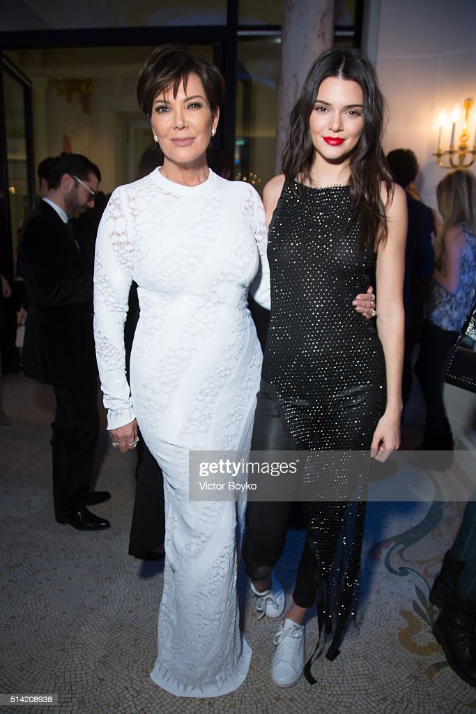 Kris Jenner and Kendall Jenner attend the Editorialist Spring/Summer 2016 Issue Launch Party at the Hotel Peninsula as part of the Paris Fashion Week Womenswear Fall/Winter 2016/2017 on March 7, 2016 in Paris, France.