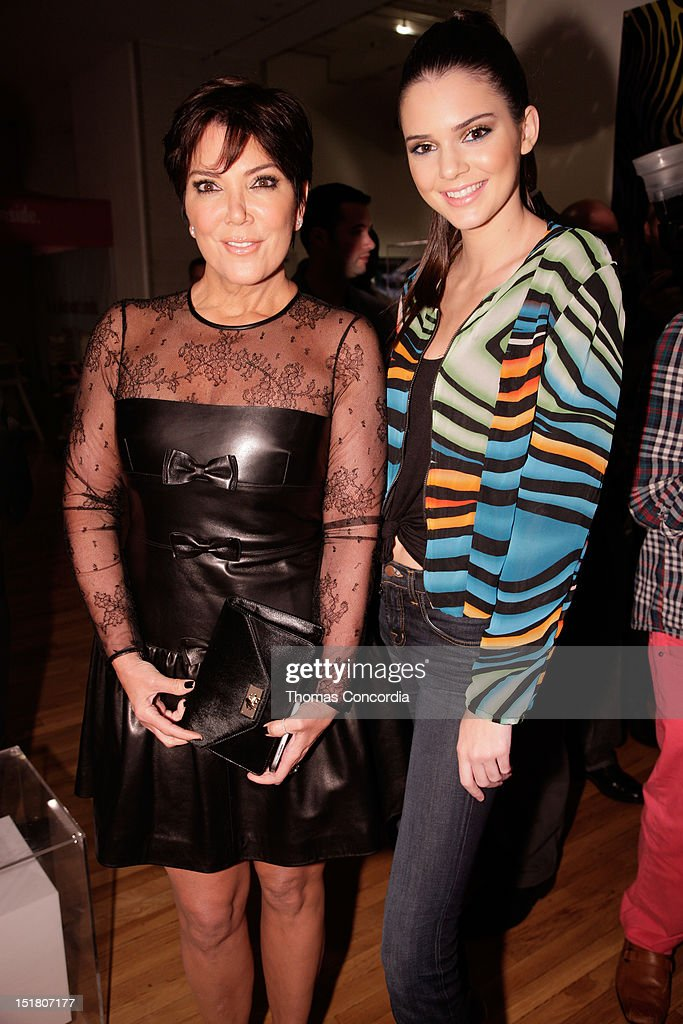 Kris Jenner and Kendall Jenner attend the Tumbler and Tipsy by Michael Kuluva fashion show presented by UbiSoft's 'Just Dance 4' at STYLE360 in the...