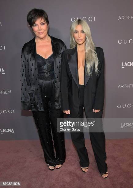 Kris Jenner and Kim Kardashian West attend the 2017 LACMA Art Film Gala Honoring Mark Bradford and George Lucas presented by Gucci at LACMA on...