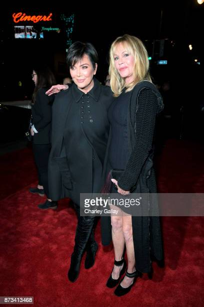 Kris Jenner and Melanie Griffith attend 'The Disaster Artist' Presented by Audi at AFI Festival at The Hollywood Roosevelt Hotel on November 12 2017...