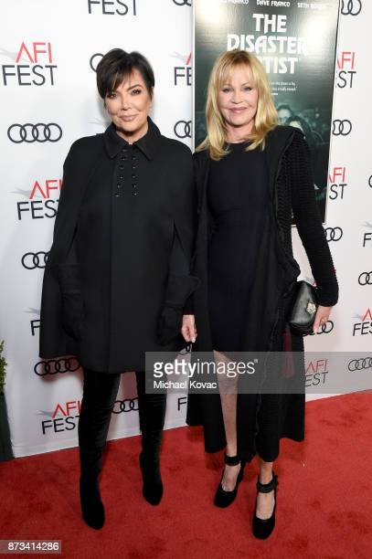 Kris Jenner and Melanie Griffith attend the screening of 'The Disaster Artist' at AFI FEST 2017 Presented By Audi at TCL Chinese Theatre on November...