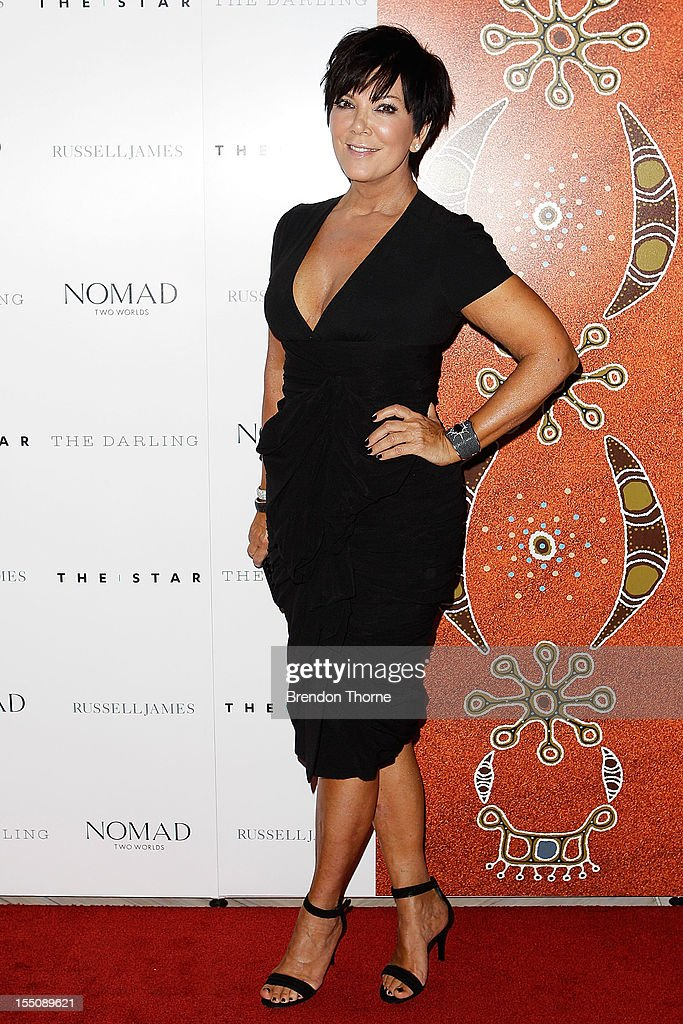 <a gi-track='captionPersonalityLinkClicked' href=/galleries/search?phrase=Kris+Jenner&family=editorial&specificpeople=762610 ng-click='$event.stopPropagation()'>Kris Jenner</a> arrives at the book launch of 'Nomad Two Worlds' by Russell James on November 1, 2012 in Sydney, Australia.