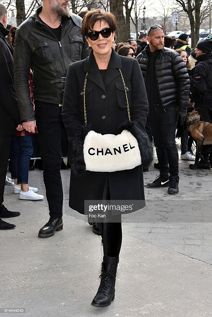 Kris Jenner arrives at the Chanel show as part of the Paris Fashion Week Womenswear Fall/Winter 2016/2017 on March 8, 2016 in Paris, France.
