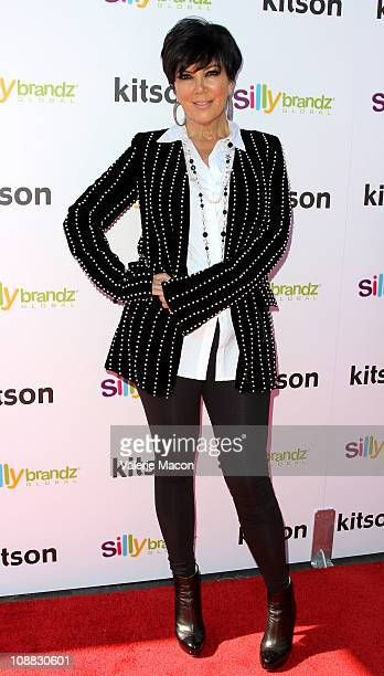Kris Jenner arrives at the Launch of The 'Kardashian Glam' Pack Of Silly Bandzon February 4 2011 in Los Angeles California