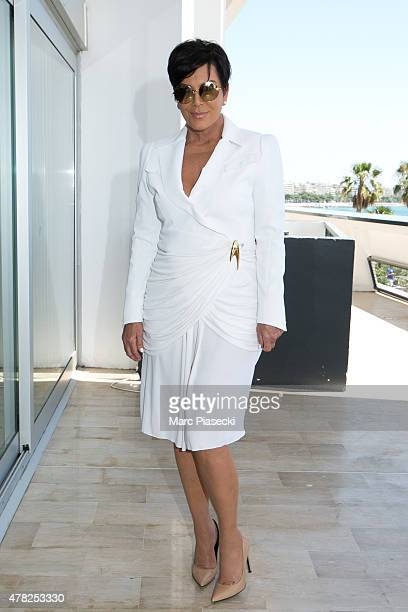 Kris Jenner arrives at the Palais des Festivals to attend the 'Cannes Lions Festival' on June 24 2015 in Cannes France