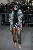 Kris Jenner arrives to attend the 'Chanel' fashion show on January 27 2015 in Paris France