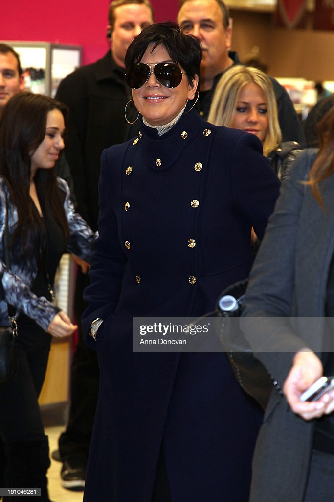 Kris Jenner arriving at her daughter Khloe Kardashian's 'Unbreakable Love' Fragrance Launch at Sears on February 8, 2013 in Downey, California.