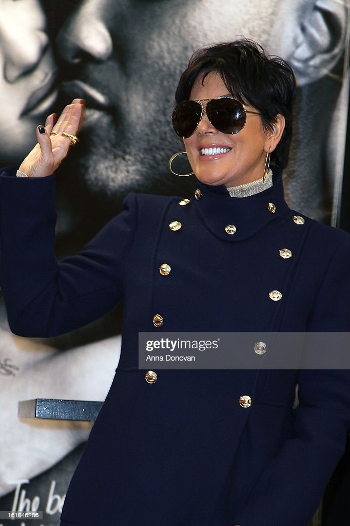 Kris Jenner at her daughter Khloe Kardashian's 'Unbreakable Love' fragrance launch with Khloe Kardashian-Odom and Lamar Odom at Sears on February 8, 2013 in Downey, California.