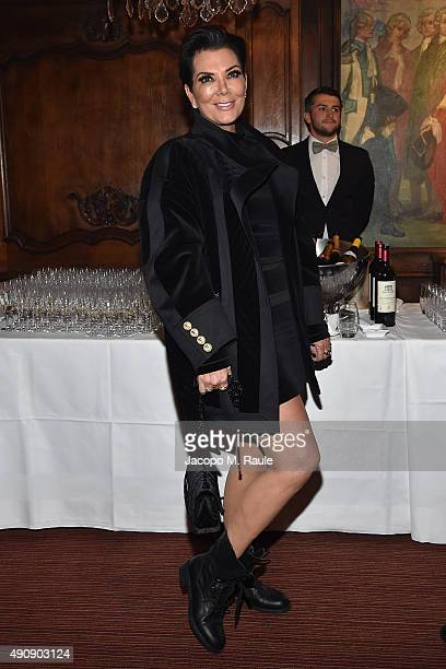 Kris Jenner attends Balmain aftershow party as part of Paris Fashion Week Womenswear Spring/Summer 2016 at Laperouse on October 1 2015 in Paris France