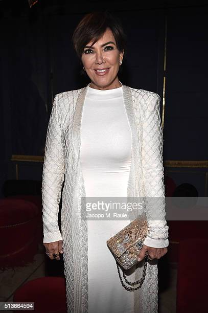 Kris Jenner attends Balmain Aftershow Party as part of Paris Fashion Week Womenswear Automn/Winter 2016 at Restaurant Laperouse on March 3 2016 in...