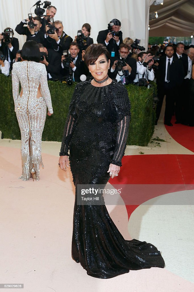Kris Jenner attends the 2016 Costume Institute Gala at the Metropolitan Museum of Art on May 02, 2016 in New York, New York.