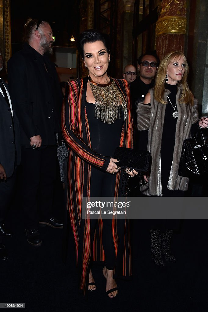 Kris Jenner attends the Balmain show as part of the Paris Fashion Week Womenswear Spring/Summer 2016 on October 1, 2015 in Paris, France.