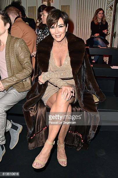 Kris Jenner attends the Balmain show as part of the Paris Fashion Week Womenswear Fall/Winter 2016/2017 on March 3 2016 in Paris France