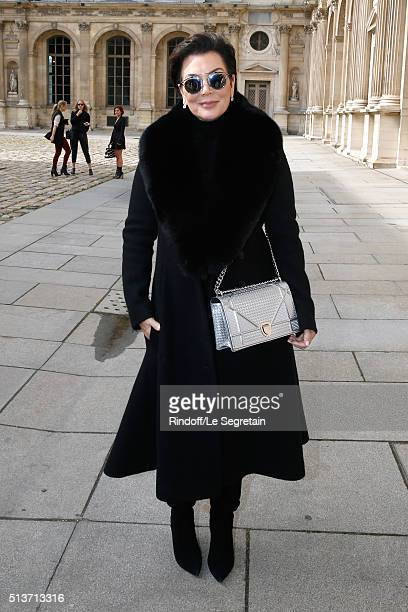 Kris Jenner attends the Christian Dior show as part of the Paris Fashion Week Womenswear Fall/Winter 2016/2017 on March 4 2016 in Paris France