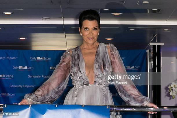 Kris Jenner attends the 'DailyMailcom Seriously Popular Yacht Party' on June 24 2015 in Cannes France