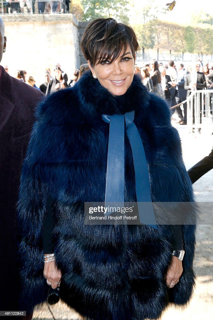 Kris Jenner attends the Elie Saab show as part of the Paris Fashion Week Womenswear Spring/Summer 2016 on October 3 2015 in Paris France
