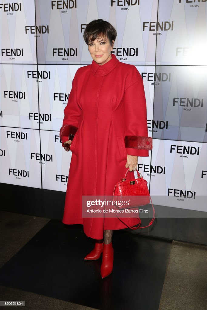 Kris Jenner attends the Fendi show during Milan Fashion Week Spring/Summer 2018 on September 21, 2017 in Milan, Italy.
