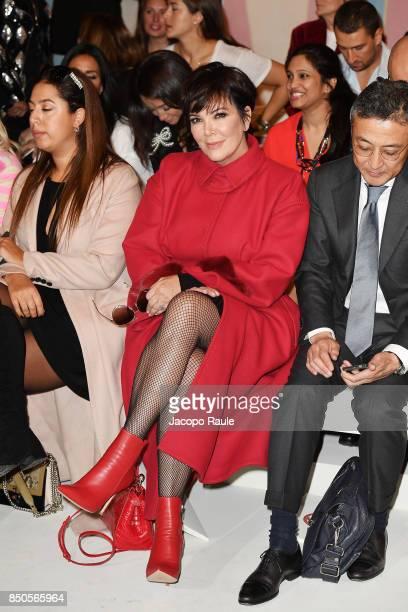 Kris Jenner attends the Fendi show during Milan Fashion Week Spring/Summer 2018 on September 21 2017 in Milan Italy
