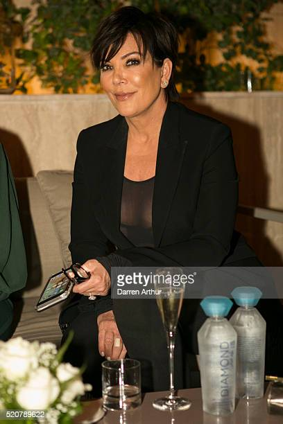 Kris Jenner attends the Legacy International announcement launch party at JeanGeorges Dubai at Four Seasons Resort on April 12 2016 in Dubai United...