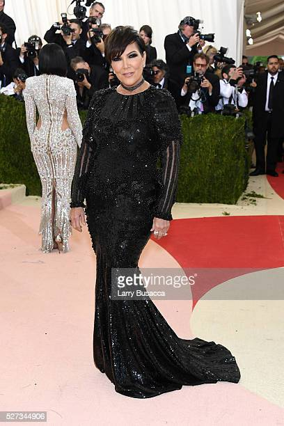 Kris Jenner attends the 'Manus x Machina Fashion In An Age Of Technology' Costume Institute Gala at Metropolitan Museum of Art on May 2 2016 in New...