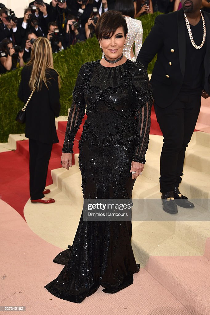 Kris Jenner attends the 'Manus x Machina: Fashion In An Age Of Technology' Costume Institute Gala at Metropolitan Museum of Art on May 2, 2016 in New York City.
