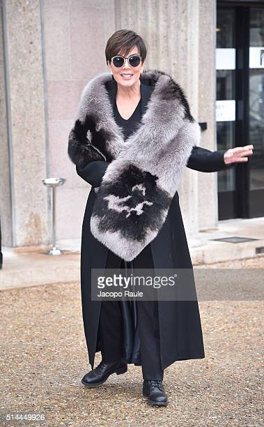 Kris Jenner attends the Miu Miu show as part of the Paris Fashion Week Womenswear Fall Winter 2016/2017 on March 9 2016 in Paris France