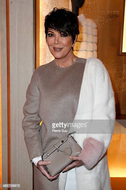 Kris Jenner attends the Shades Of Dolce Vita Cocktail Party By Fendi at Fendi on March 9 2015 in Paris France
