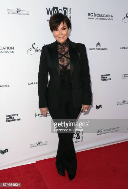 Kris Jenner attends the Wearable Art Gala at California African American Museum on April 29 2017 in Los Angeles California