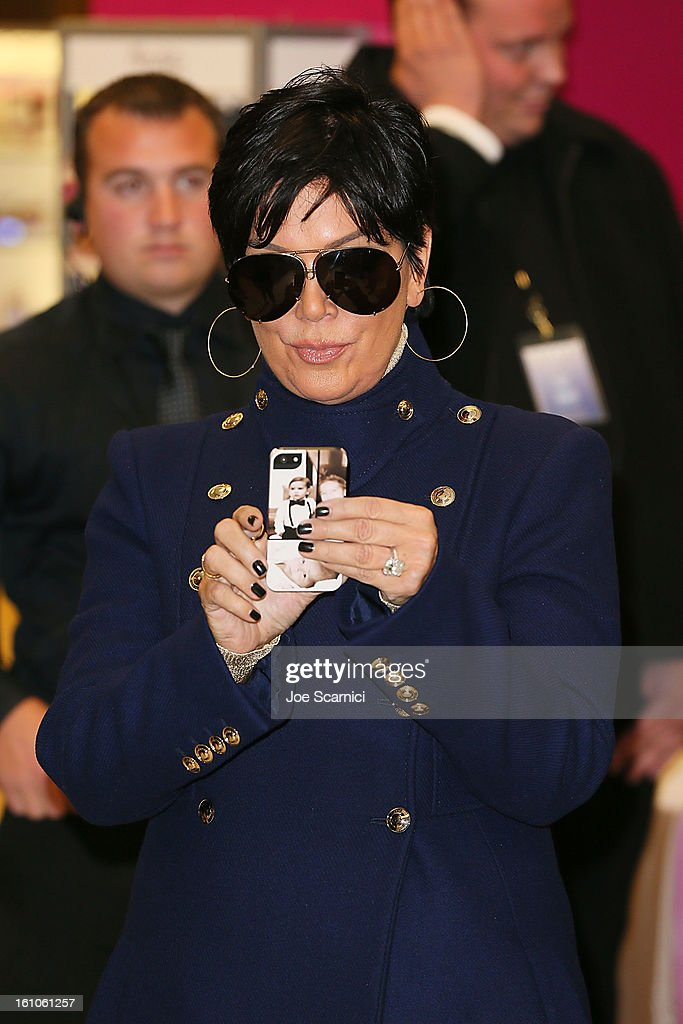 <a gi-track='captionPersonalityLinkClicked' href=/galleries/search?phrase=Kris+Jenner&family=editorial&specificpeople=762610 ng-click='$event.stopPropagation()'>Kris Jenner</a> atttends Khloe Kardashian's launch 'Unbreakable Love' Fragrance at Sears on February 8, 2013 in Downey, California.
