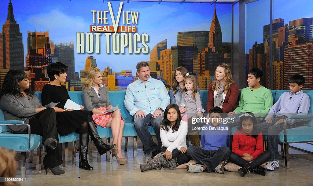 THE VIEW - (2.6.13) Kris Jenner guest co-hosts; Kevin McKidd (ABC's 'Grey's Anatomy'); Musical guest Hunter Hayes; the story of a couple who adopted five Peruvian children. 'The View' airs Monday-Friday (11:00 am-12:00 pm, ET) on the ABC Television Network. FAMILY