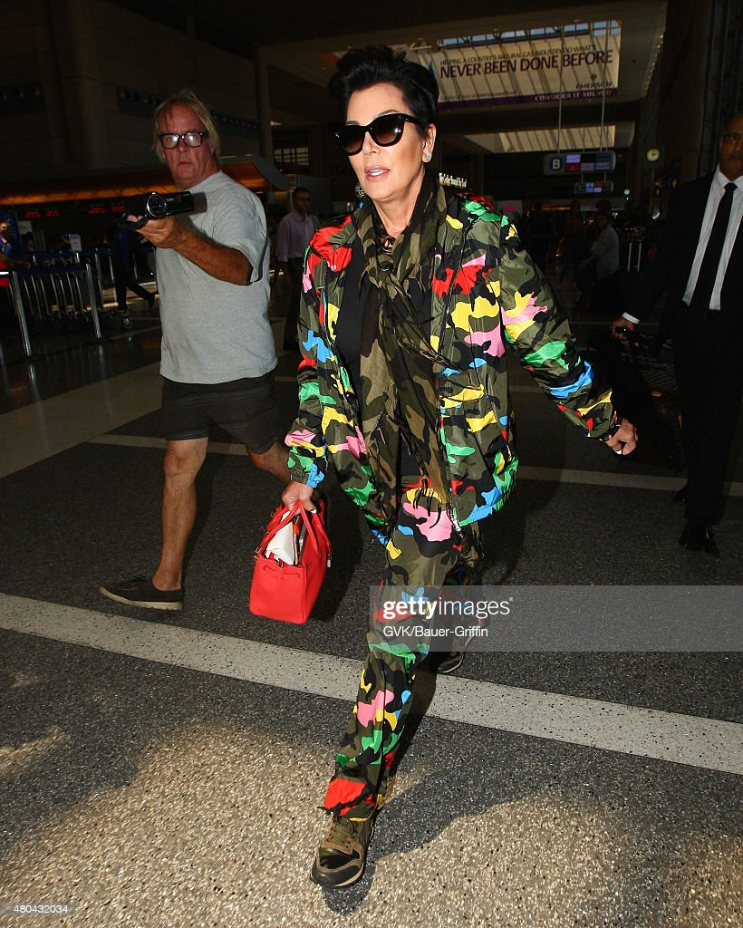 Kris Jenner is seen at LAX on July 11 2015 in Los Angeles California