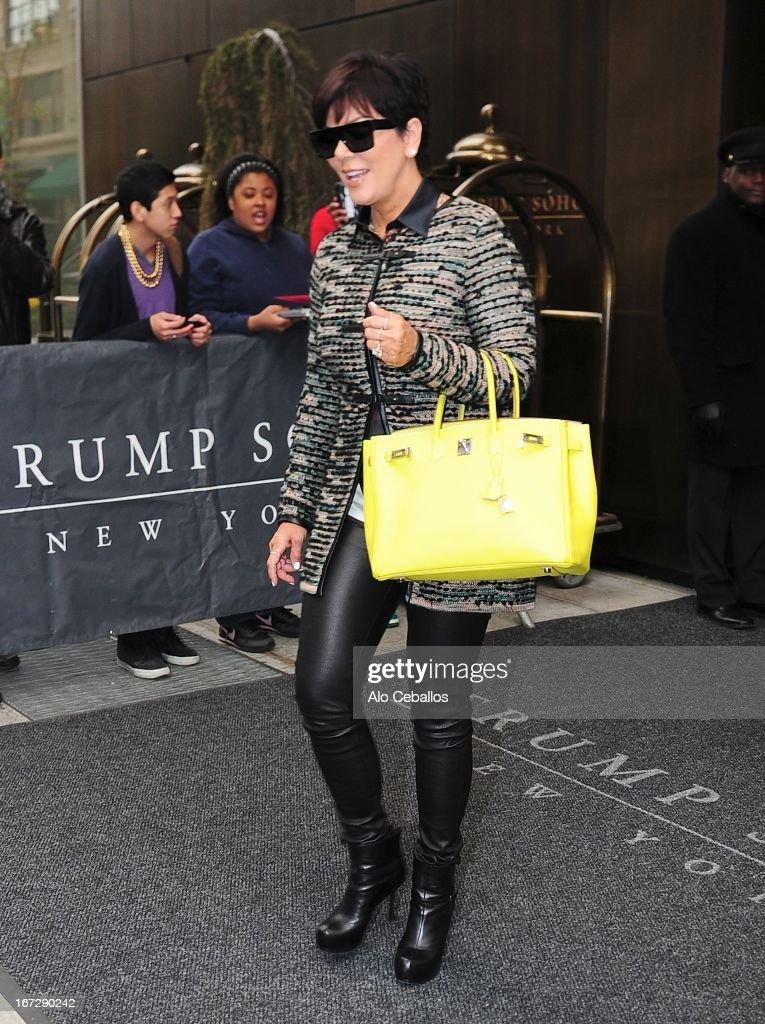 Kris Jenner is seen in Soho on April 23, 2013 in New York City.