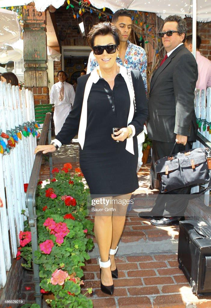 Kris Jenner is seen on April 24, 2014 in Los Angeles, California.