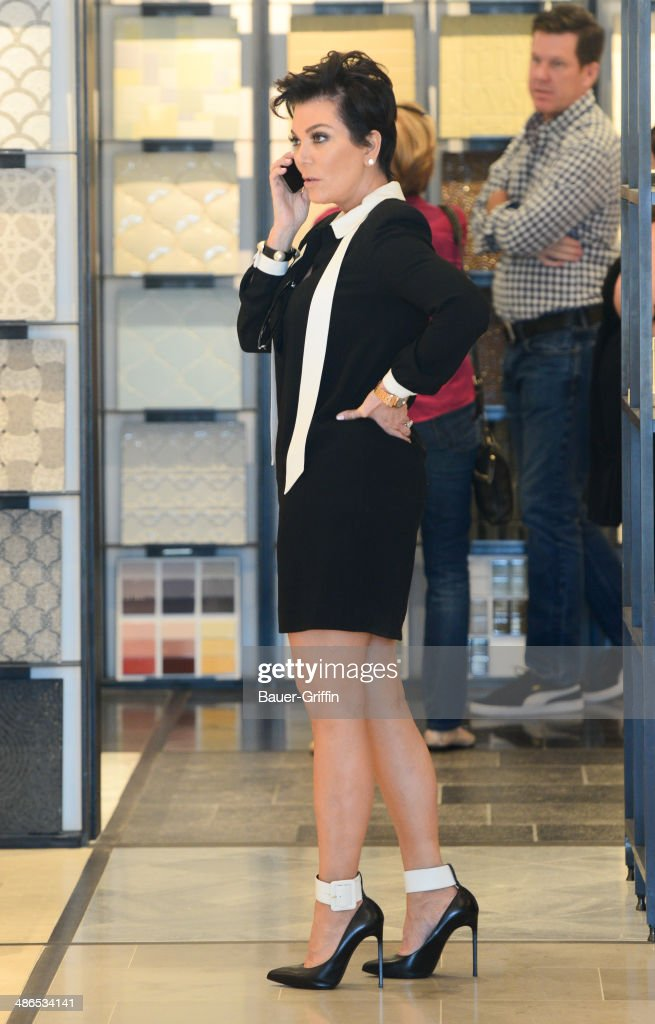 Kris Jenner is seen on April 24, 2014 in Los Angeles, California.