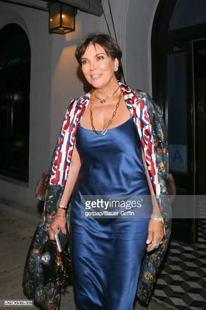 Kris Jenner is seen on August 09 2017 in Los Angeles California